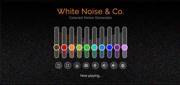 White Noise Generator Homepage
